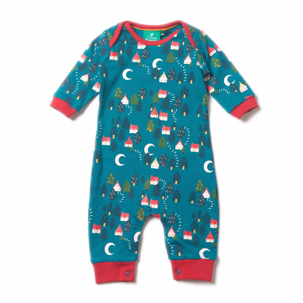 Organic Fairtrade Cotton - Forest Footprints Playsuit